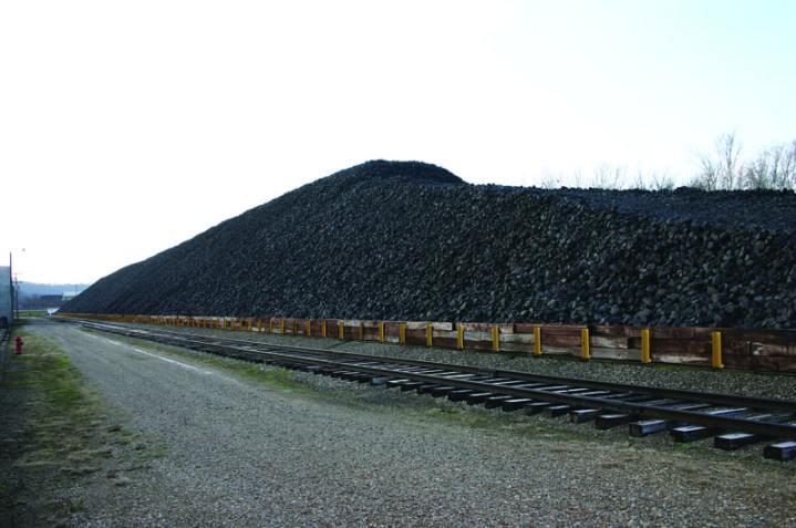 Part of DLA's stockpile of manganese ore