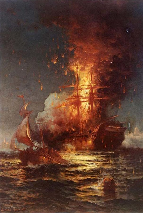 Burning of the USS Philadelphia