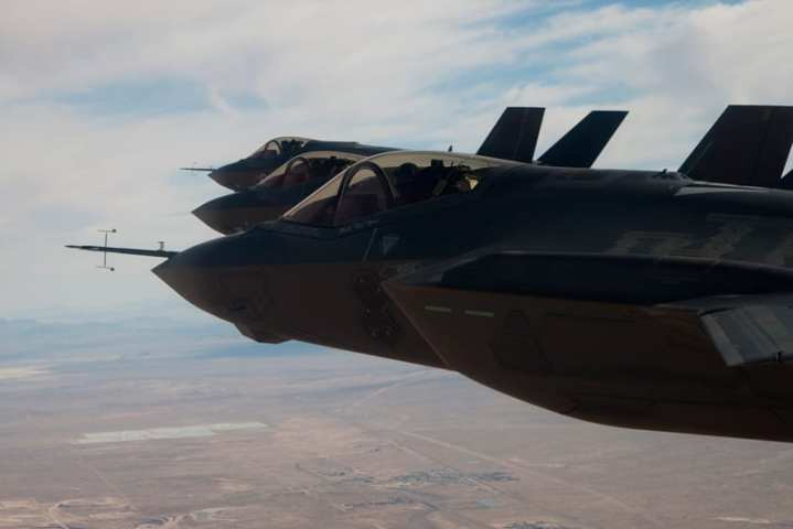 Three F-35As over Edwards