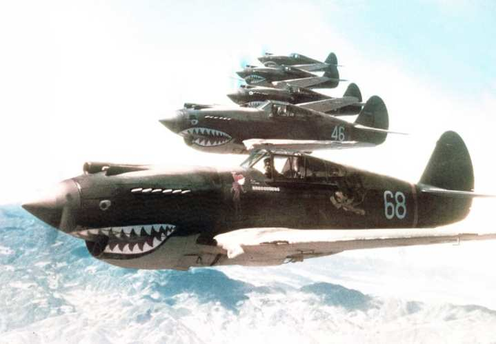 87fabafb3dfe The American Volunteer Group, better known as the Flying Tigers, used the  best qualities of their shark mouthed P-40Bs in air combat against the  Japanese to ...