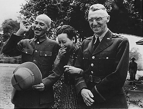 Chiang Kai-shek, Madame Chiang Kai-shek and Lt. Gen. Joseph W. Stilwell