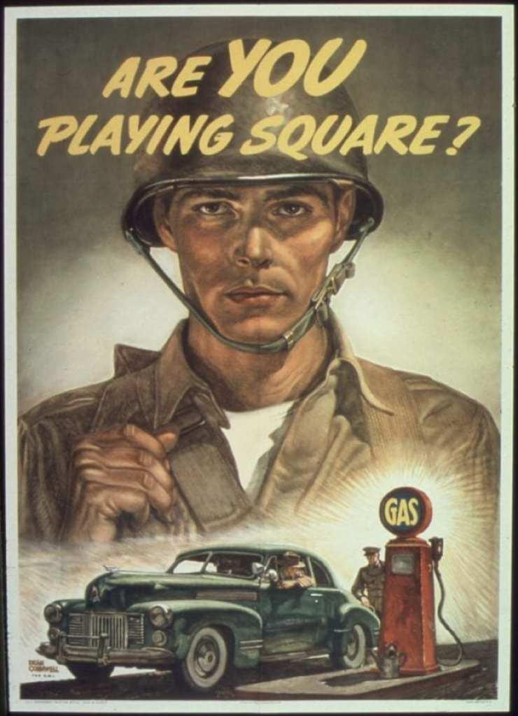 Gasoline Rationing Poster