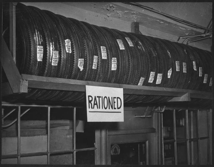 Rationed Tires During World War II