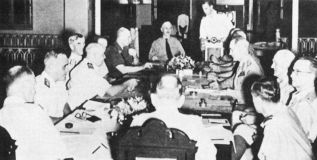 ABDA Command meeting with Gen. Wavell