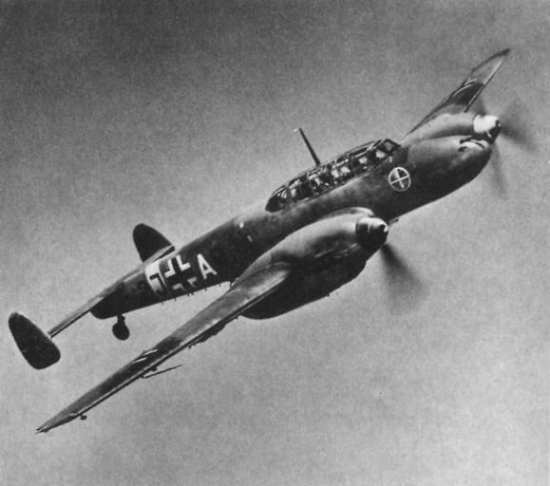 A Bf 110 of Zerstorergeschwader 1 in flight. Wikimedia Commons