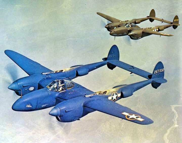 P-38J and F-5B