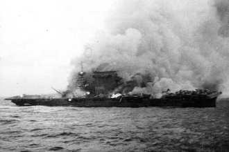 Lexington CV-2 burns, Coral Sea