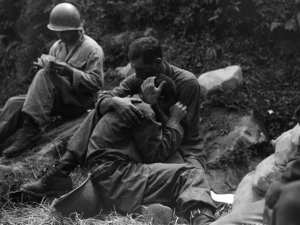 WW II battle fatigue combat exhaustion