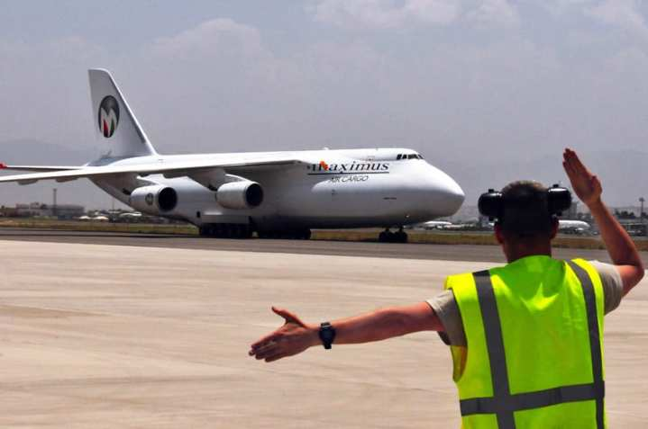 An-124 Lands in Afghanistan