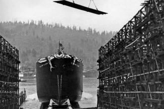 Launching of Liberty Ship SS William Clark