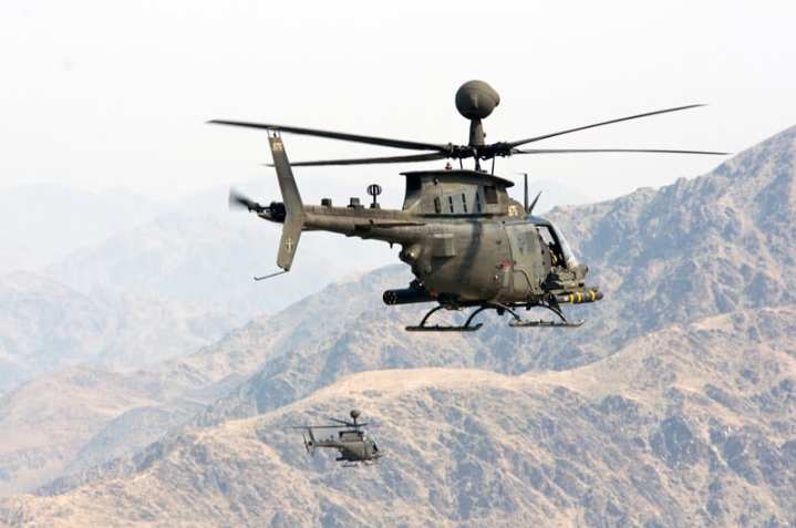 Two OH-58D Kiowa Warrriors