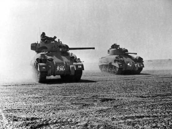 Sherman Tanks At El Alamein