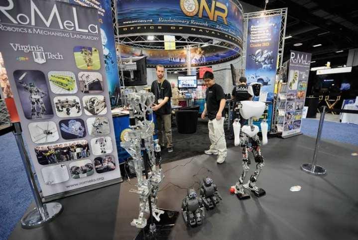 Virginia Tech Students Demonstrate Naval Robots