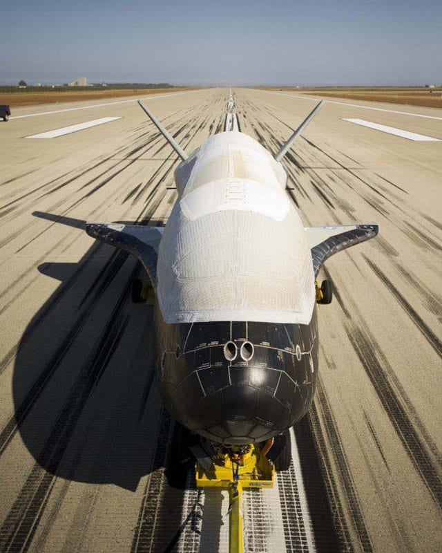 X-37B on runway