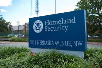 "The Department of Homeland Security Nebraska Avenue Complex. Among its ""attributes"" is that it does not have enough meeting space to accommodate the needs of the personnel who work there. DHS photo"