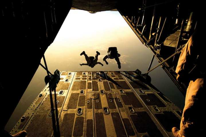 Air Force Pararescuemen Jump