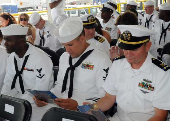 U.S. Navy Sailors at PCUSomerset Christening