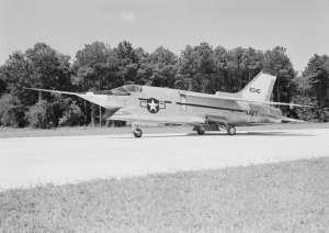 Vought XF8U-3 at Wallops Island 1959