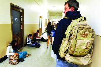 military members return from Iraq and Afghanistan wars take advantage of GI Bill benefits