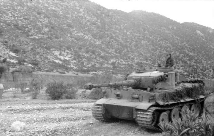Tiger Tank in Tunisia