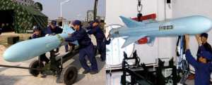 Figure 9: The PLAN's YJ-83 is virtually identical in appearance to the export C802, but is an updated missile. Chinese internet photo courtesy of Christopher P. Carlson