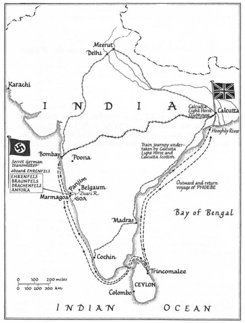 A map of the successful mission conducted by the Calcutta Light Horse on behalf of the Special Operations Executive (SOE). Photo courtesy of arnhemjim