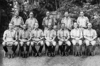 Officers of the Calcutta Light Horse approximately a year after their highly successful clandestine attack on German ships in Marmagoa, Goa harbor in March 1943. Photo via Arnhemjim