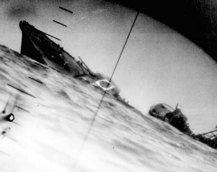 Torpedoed Japanese Destroyer