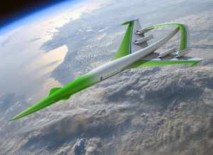 """This future aircraft design concept for supersonic flight over land comes from the team led by the Lockheed Martin Corporation. The team used simulation tools to show it was possible to achieve over-land flight by dramatically lowering the level of sonic booms through the use of an """"inverted-V"""" engine-under wing configuration. Other revolutionary technologies help achieve range, payload and environmental goals. This concept was one of two designs presented in April 2010 to the NASA Aeronautics Research Mission Directorate for its NASA Research Announcement-funded studies into advanced supersonic cruise aircraft that could enter service in the 2030-2035 timeframe. NASA/Lockheed Martin Corporation rendering"""