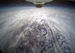 The swirling circulation pattern of tropical storm Frank off the southwestern coast of Baja California was captured by Ames Research Center's HDV camera mounted on the aft fuselage of NASA's Global Hawk unmanned research aircraft, Aug. 28, 2010. NASA/NOAA photo