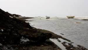 Whaling boats in Barrow Alaska