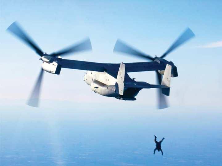 MV-22B static line jump