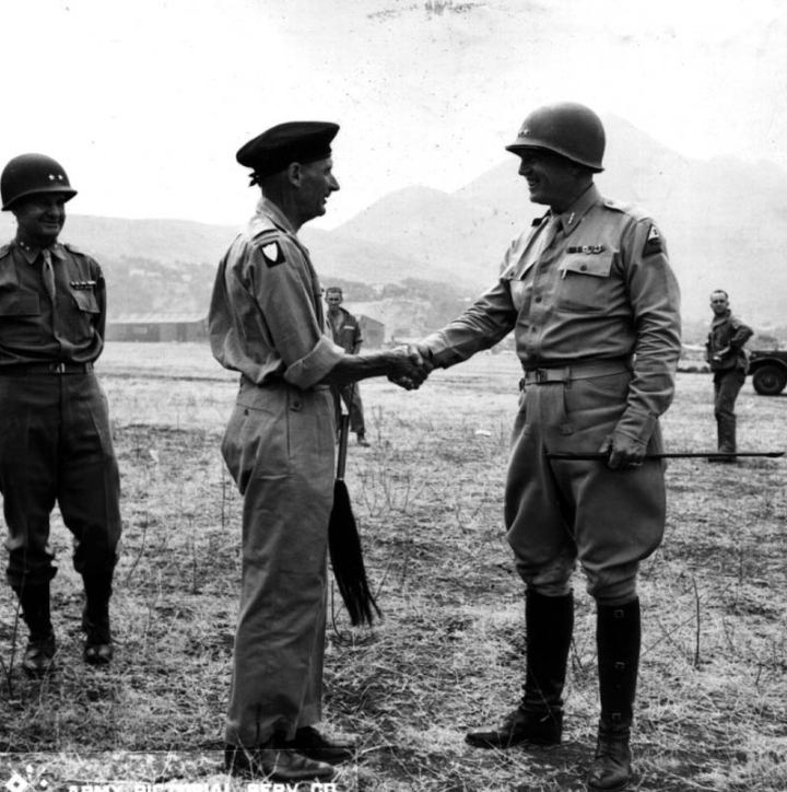 Gen. Bernard Law Montgomery and Lt. Gen. George S. Patton, Jr.