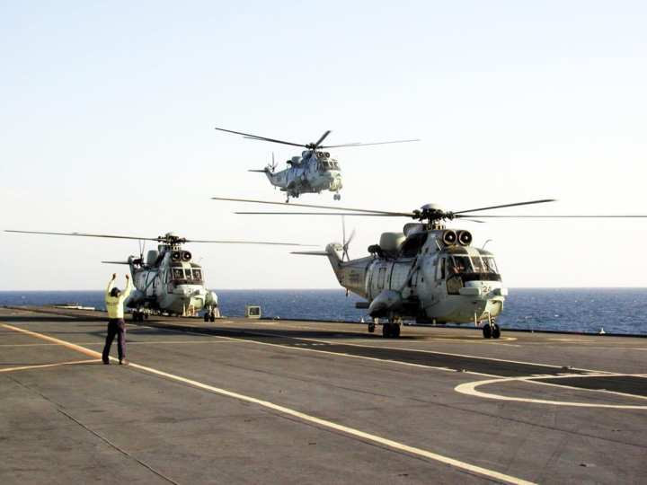 Sea King Mk. 42B operations on carrier