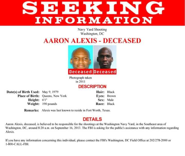 Navy Yard Shooting Fbi Video Shows Gunman Aaron Alexis: Mass Shootings, Mental Health, Human Factors & Homeland