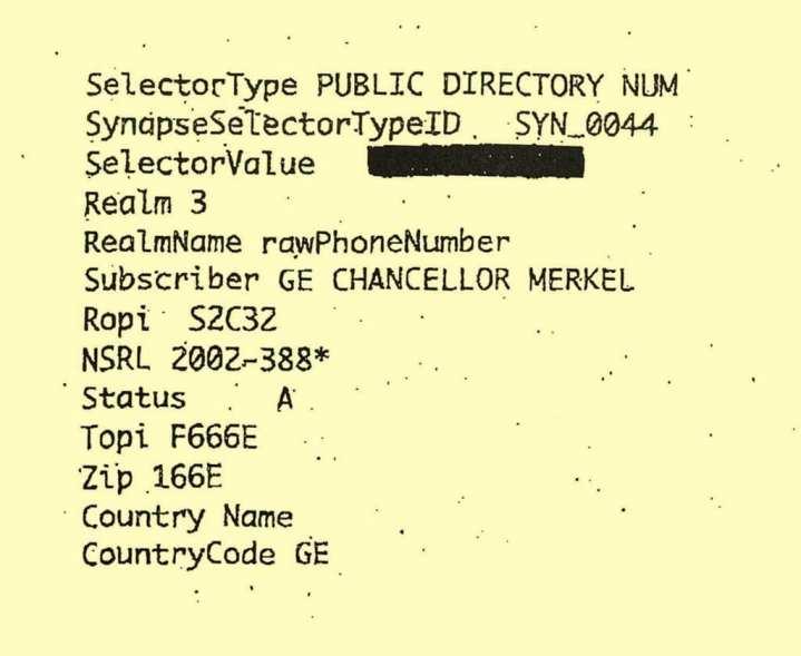 NSA Merkel Data