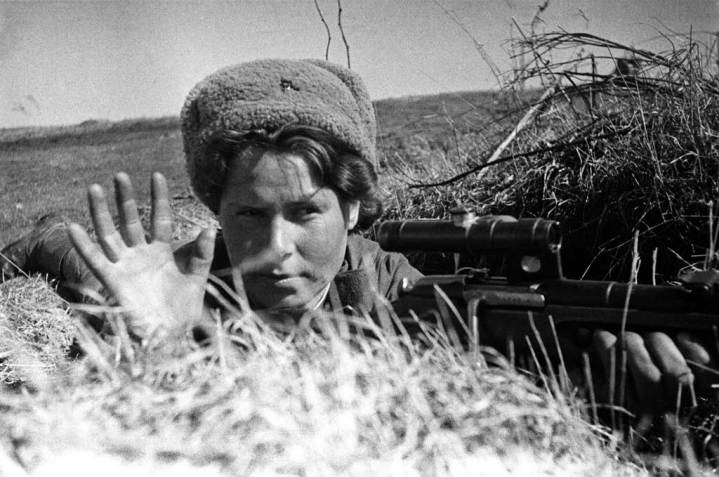 Red Army Woman Sniper