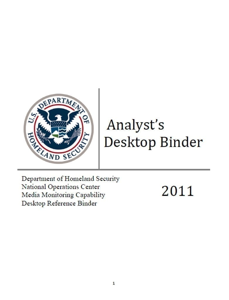 Analyst's Desktop Binder 2011