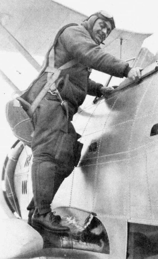 Elmer F. Stone in JF-2 Duck aircraft