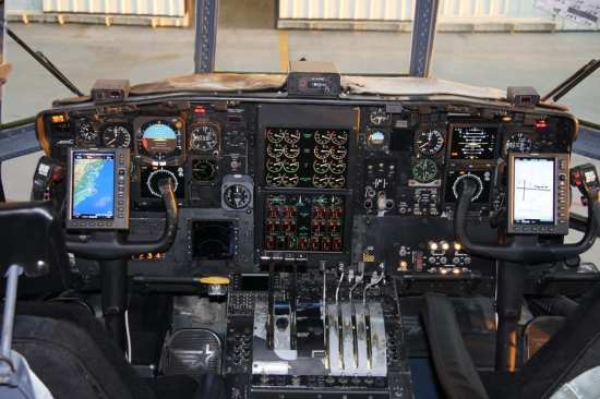 HC-130H cockpit