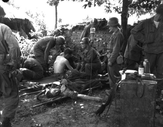 Korean War Wounded Soldiers