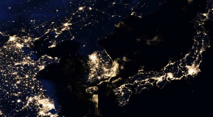 Korea at Night