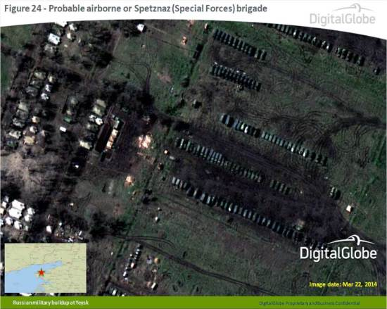 Satellite Image Russian Forces