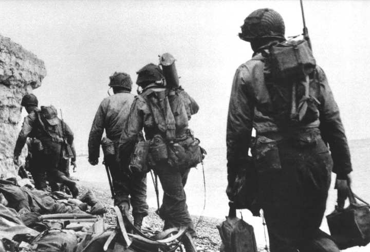 Rangers at Pointe du Hoc
