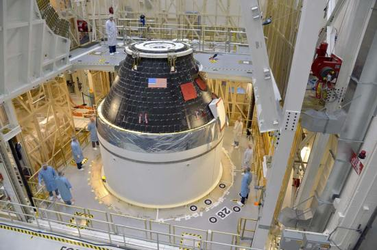 orion capsule completed