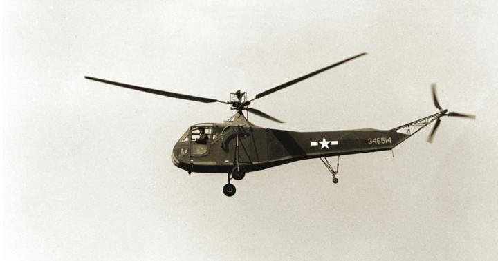 An R-4B Hoverfly like the one Air Commandos used in the first helicopter rescue. Robert F. Dorr collection