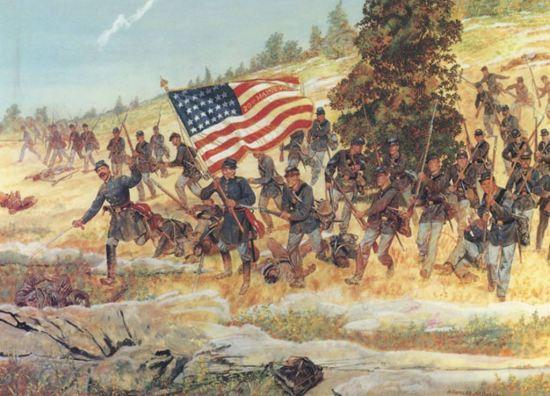 20th Maine bayonets
