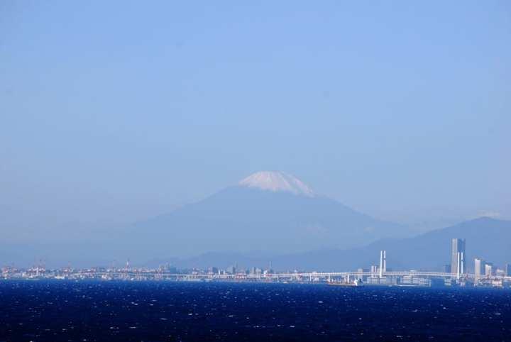 Mt. Fuji from Tokyo Bay