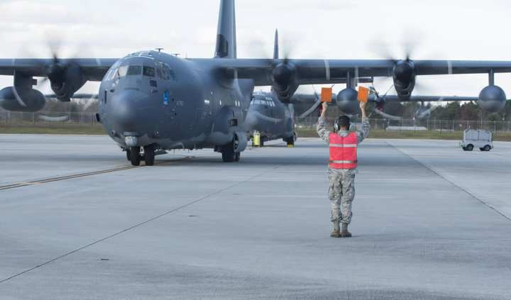 C-130 arrives at Moody