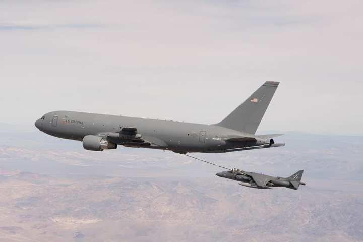 KC-46A refuels Harrier